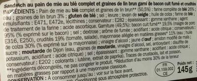 Plaisir & Gourmandise Bacon Crudités Mayonnaise allégée - Ingrédients