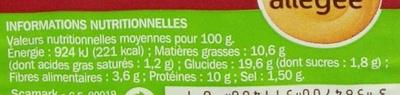 Plaisir & Gourmandise Bacon Crudités Mayonnaise allégée - Informations nutritionnelles