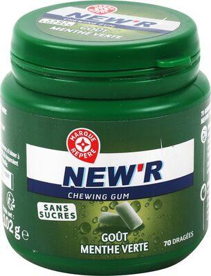 Chewing gum menthe verte sans sucres - box 70 dragées - 6