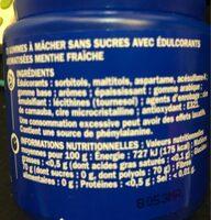 Chewing-gum menthe fraîche - Informations nutritionnelles - fr