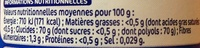 Chewing gum menthe fraîche sans sucres - box 70 dragées - Nutrition facts - fr
