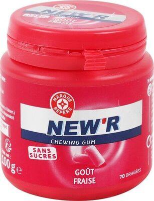 Chewing gum fraise sans sucres - Product - fr