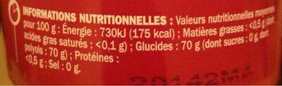 Chewing gum fraise sans sucres - Nutrition facts - fr