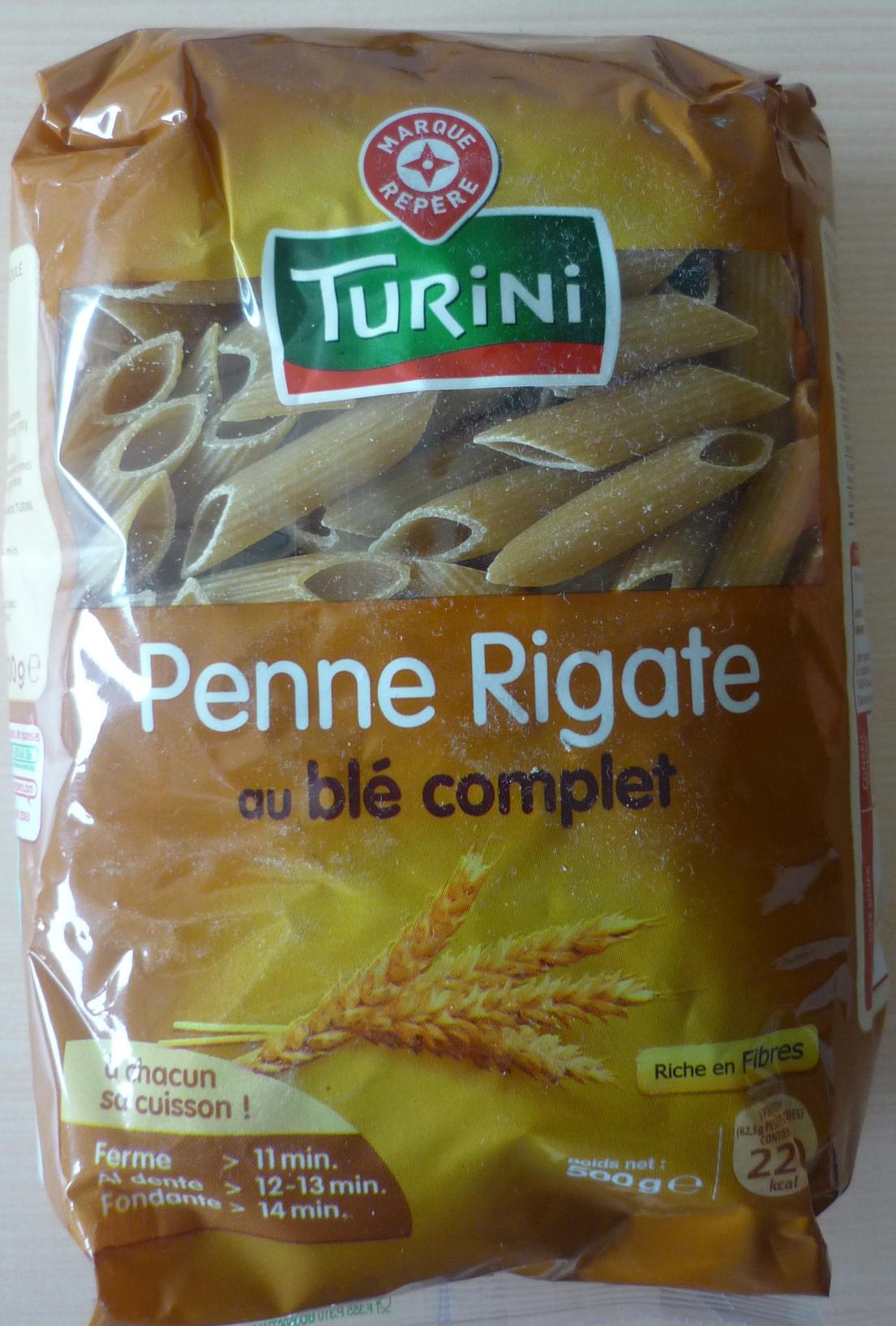 Penne Rigate au blé complet - Producto