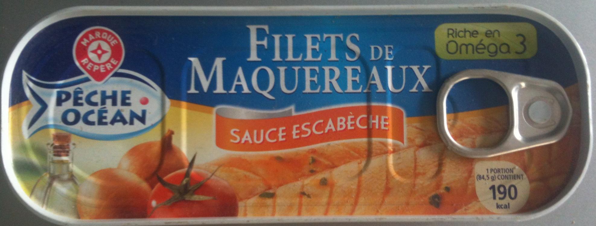 filets de maquereaux sauce escab che p che oc an 169. Black Bedroom Furniture Sets. Home Design Ideas