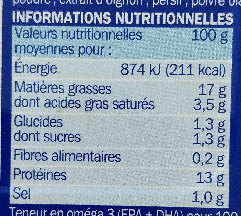 Filets de maquereaux sauce escabèche - Valori nutrizionali - fr