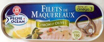 Filets de maquereaux citron olives - Produit - fr