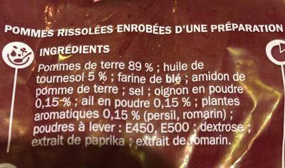 Pommes Rissolées aux Herbes - Ingrediënten - fr