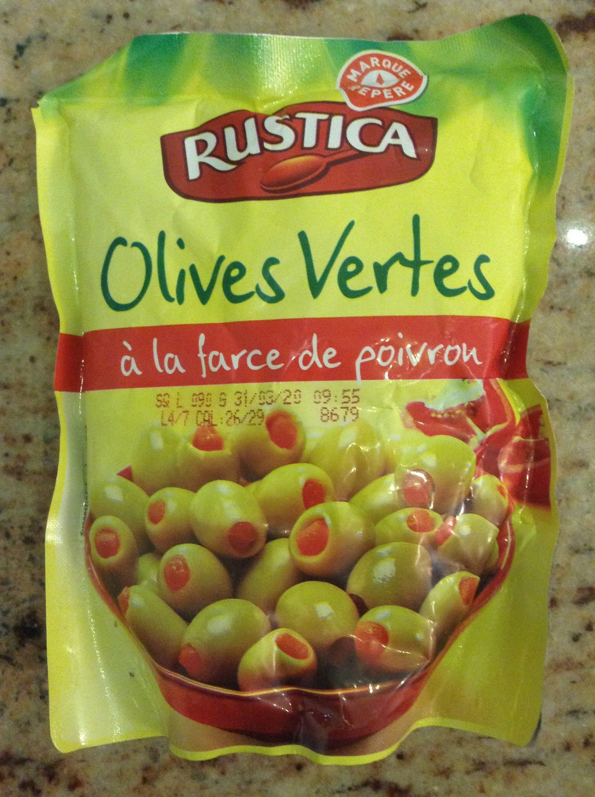 Olives vertes la farce de poivron rustica 250 g for Origine du mot farce