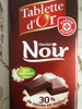Tablette d'Or - Chocolat Noir - Product