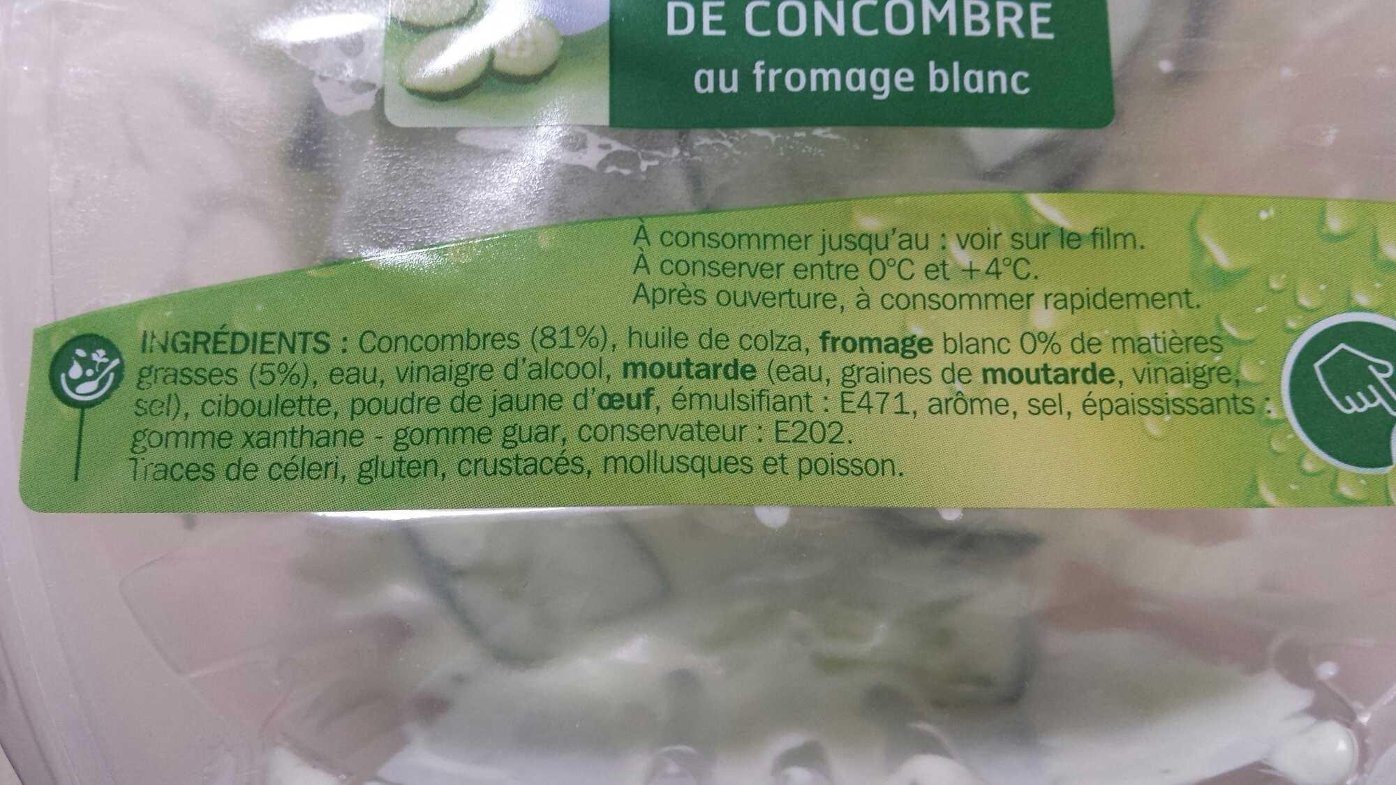 Salade de concombres au fromage blanc - Ingrediënten