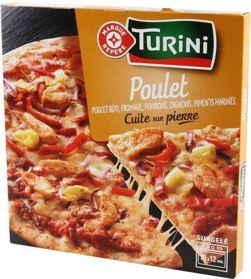 Pizza pâte fine façon kebab - Producte