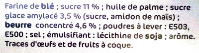 Damier feuilleté - Ingrédients - fr