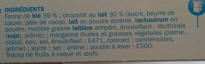 Palmiers nappe chocolat lait - Ingredients