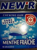 Chewing gum menthe fraîche - Product - fr