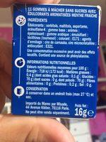 Chewing gum menthe fraîche - Nutrition facts - fr