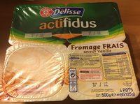 Spécialité laitière au fromage blanc au bifidus saveur vanille - Product