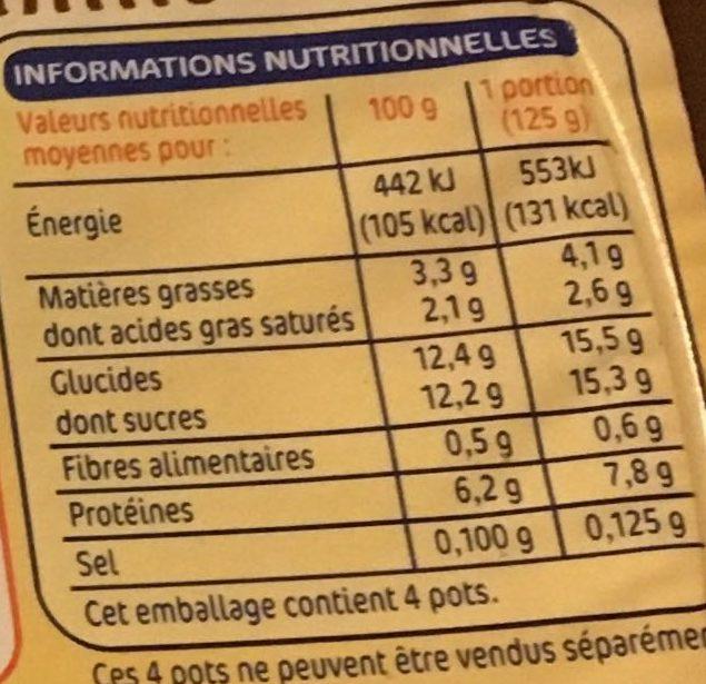 Spécialité laitière au fromage blanc au bifidus saveur vanille - Voedigswaarden