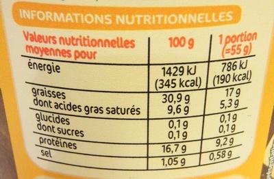 Rillettes de Poulet Rôti en cocotte - Format Familial - Informations nutritionnelles - fr