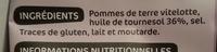 Chips vitelotte - Ingrédients