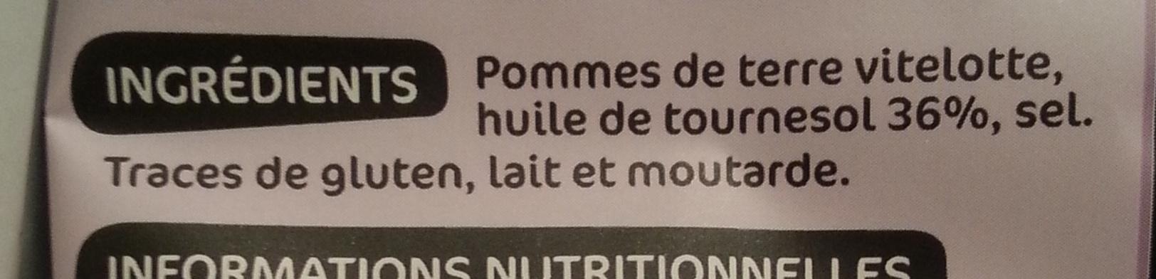 Chips vitelotte - Ingrediënten - fr