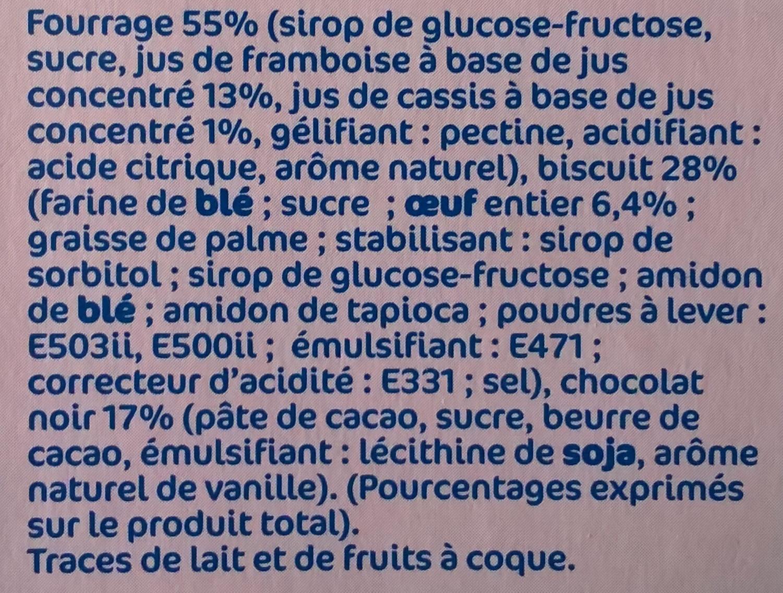 Génoises framboise cassis - Ingrédients - fr