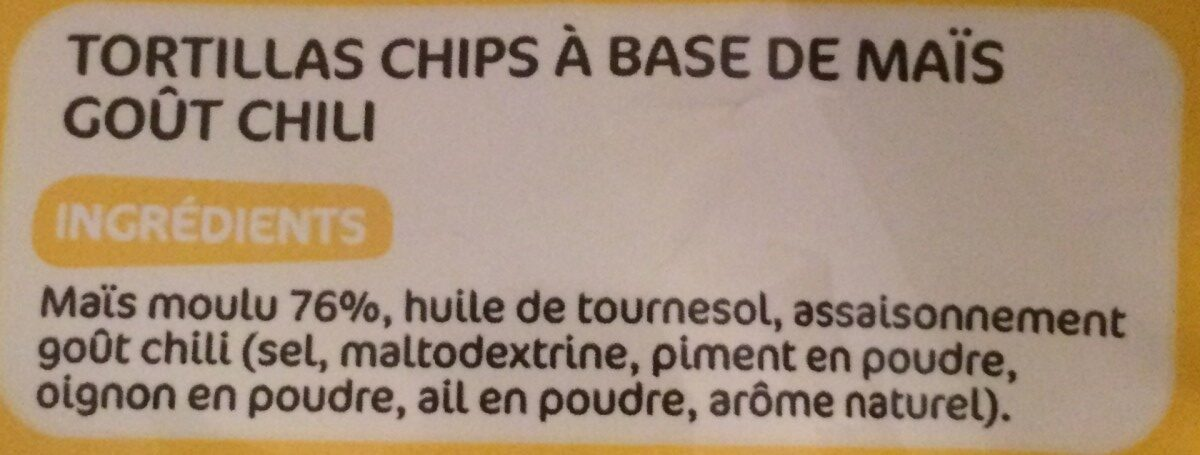 Tortillas chili - Ingrédients - fr
