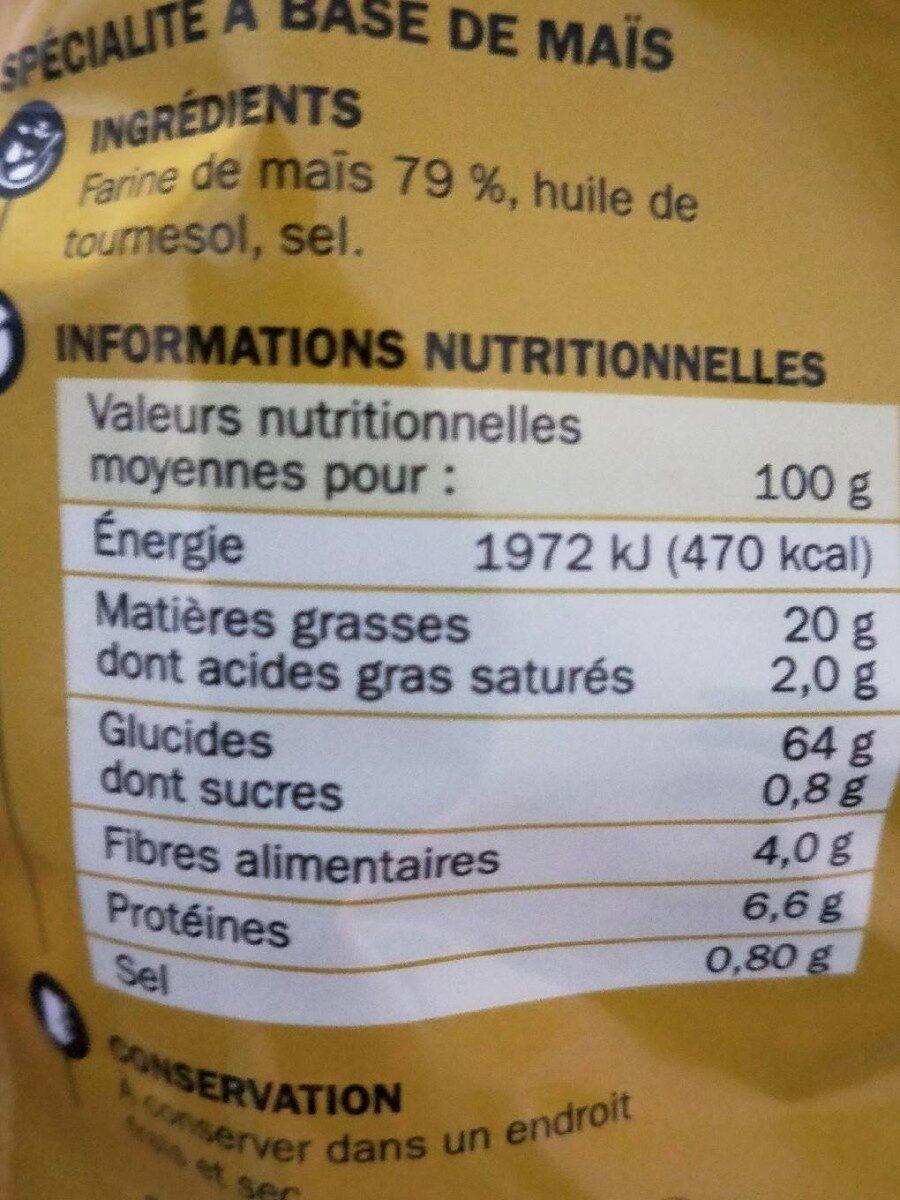 Tortillas nature - Nutrition facts - fr