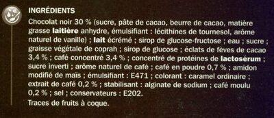 Trium café x 4 - Ingrédients - fr