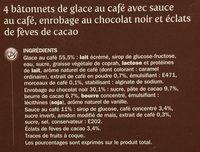 Trium café x 4 - Ingredients