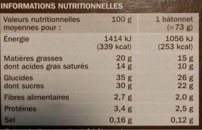 Trium café x 4 - Informations nutritionnelles - fr