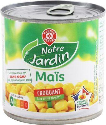 Maïs croquant sans sucres ajoutés - Produit
