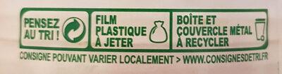 Maïs croquant sans sucres ajoutés - Recyclinginstructies en / of verpakkingsinformatie - fr