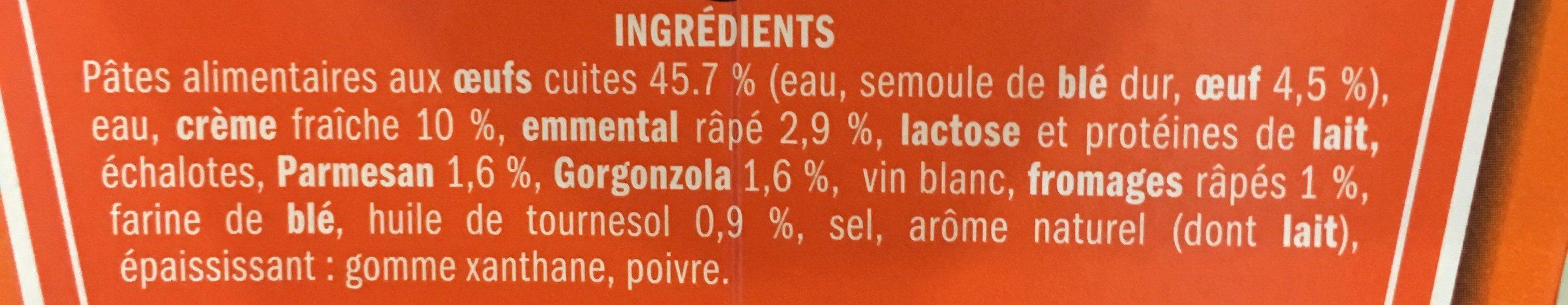 Fusilli aux fromages italiens - box - Ingrédients