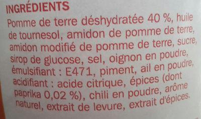 Tuiles goût paprika - Ingrediënten