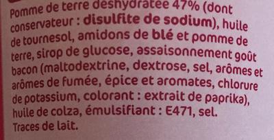 Tuiles gout bacon - tube - Ingrediënten - fr