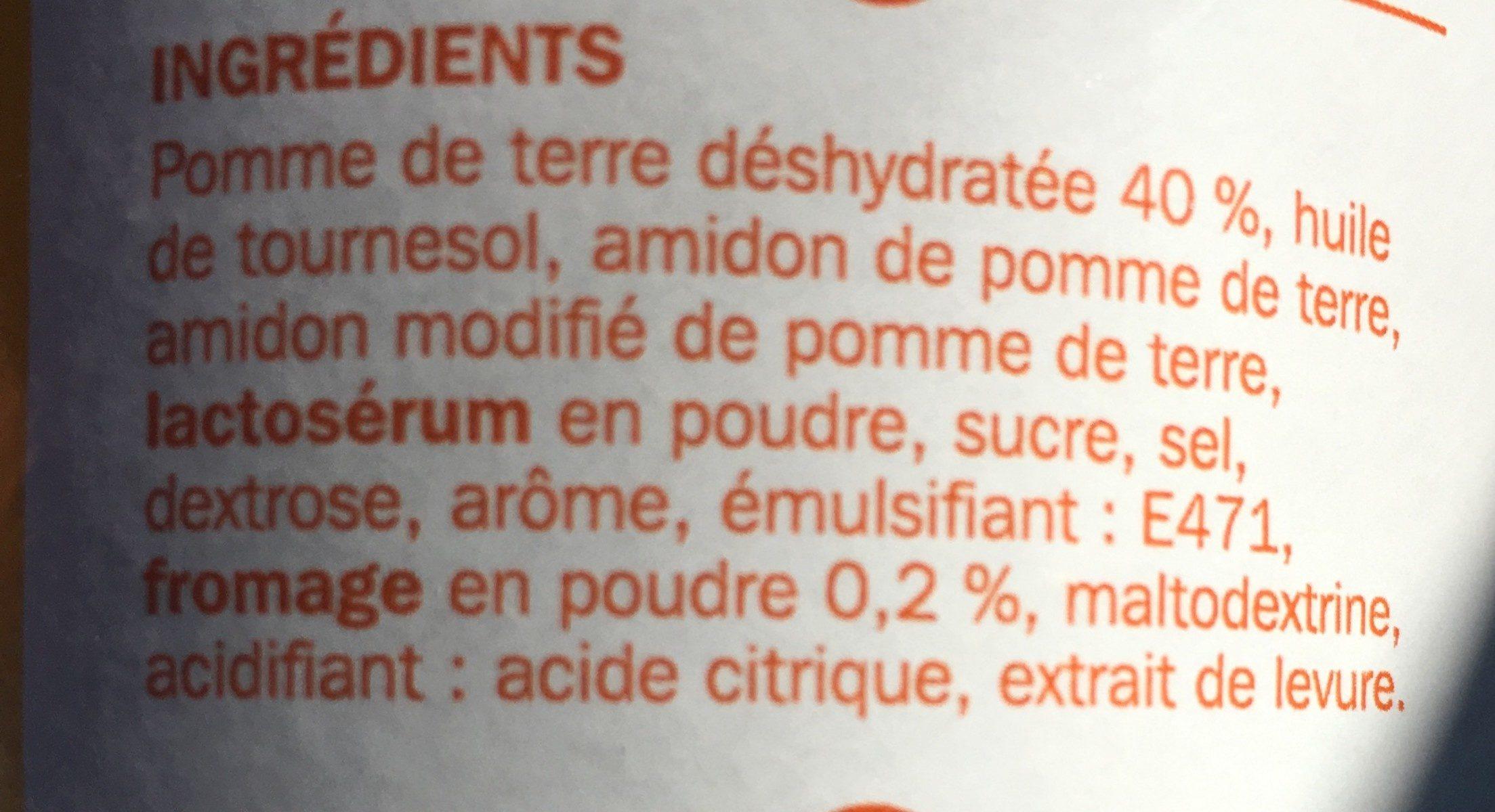 Tuiles goût fromage - Ingrédients