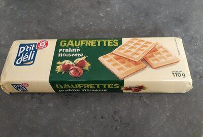Gaufrettes pralines noisettes - حقائق غذائية - fr