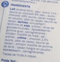 Flan choco nappe chocolat - Ingredients - fr