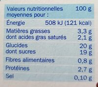 Flan choco nappe chocolat - Nutrition facts - fr