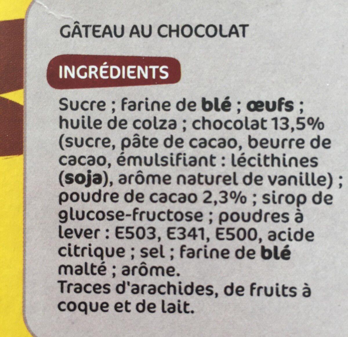 Gâteau tout chocolat - Ingrediënten - fr
