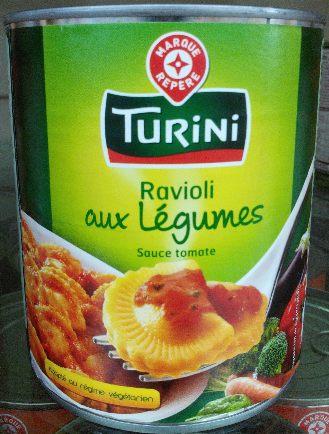 ravioli aux l gumes sauce tomate turini 800 g. Black Bedroom Furniture Sets. Home Design Ideas