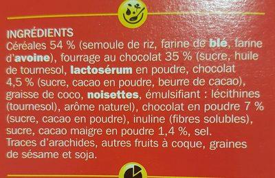 Céréales fourrées tout chocolat - Ingrédients - fr