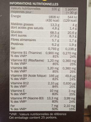 Céréales fourrées tout chocolat - Nutrition facts - fr