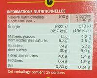 Céréales fourrées tout chocolat - Informations nutritionnelles - fr