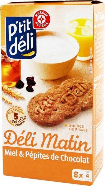 Biscuits petit déjeuner Déli-Matin miel et pépites de chocolat - Product