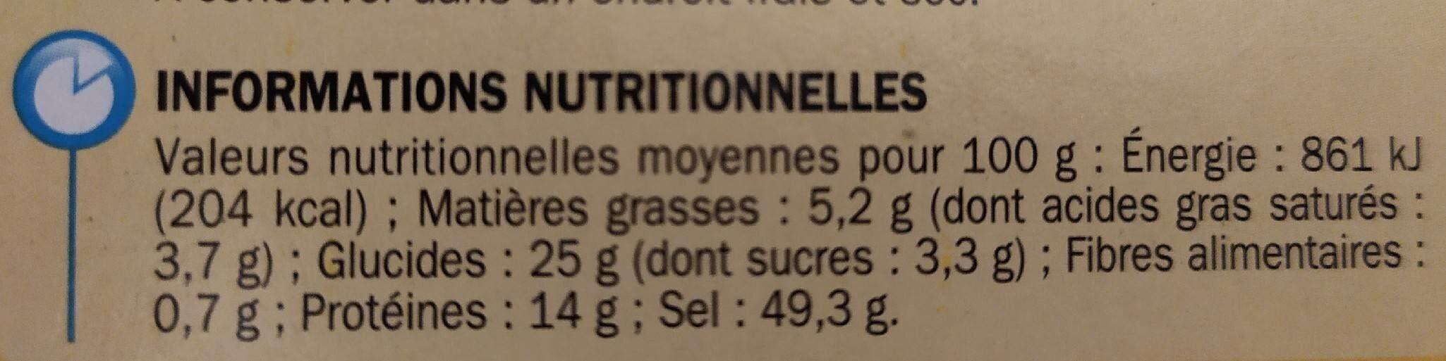 Bouillon de pot au feu dégraissé 12 x 10 g - Informations nutritionnelles