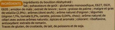 Bouillon de volaille dégraissé 12 x 10 g - Ingrédients - fr