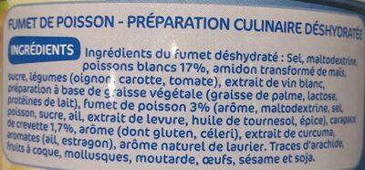 Fumet de poisson déshydraté - Ingrédients - fr