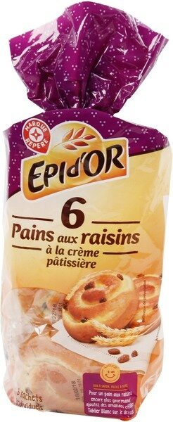 Pains aux raisins x 6 - Product - fr